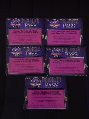 5x Alton Towers Fast Track Priority Pass 2 People (With 1 Priority Pass)