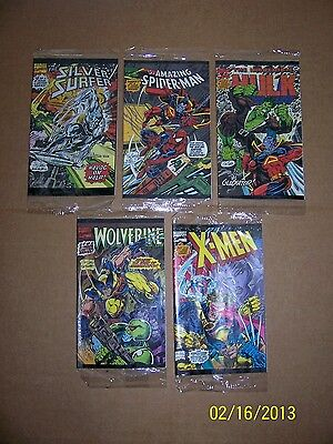 Comics MARVEL Miniatures Super RARE Silver Surfer,Spiderman,HulK,Wolverine,Xmen