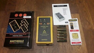Martindale Pd430 Low+ High Voltage Tester Electrician Electrical Proving Unit
