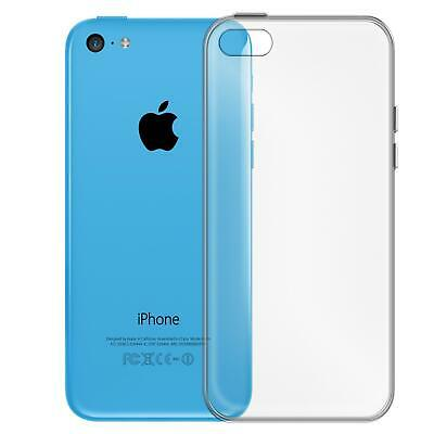 Apple iPhone 5c Thin Silicone Clear Case Cover Ultra Slim Shockproof Gel Back