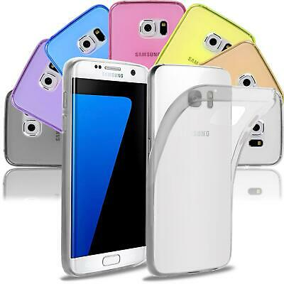 Samsung Galaxy S7 Thin Silicone Clear Case Cover Ultra Slim Shockproof Gel Back