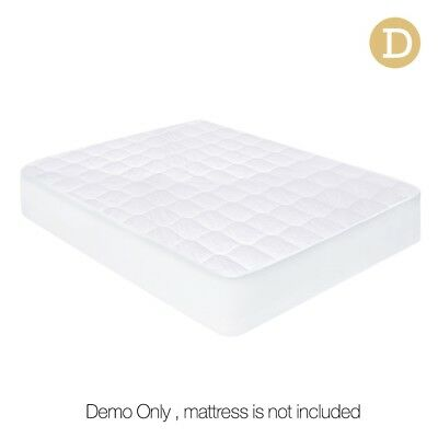 Giselle Bedding Fully Fitted Cotton Cover Quilted Bed Mattress Protector DOUBLE