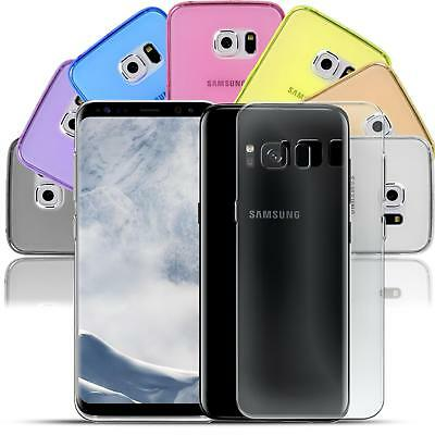 Samsung Galaxy S8 Plus Thin Silicone Clear Case Cover Ultra Slim Shockproof Gel