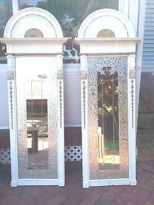 """Extravagant  Pair Of Antique French? Victorinan Trumeau """"Pier"""" Mirrors 66"""" Tall"""
