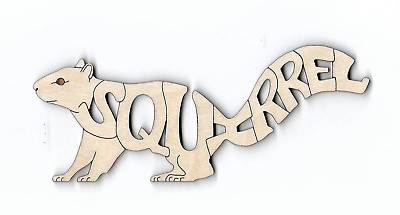 SQUIRREL laser cut and engraved Magnet