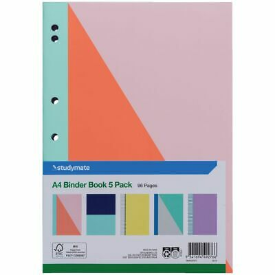 Studymate A4 Exercise Book Pastel 5 Pack