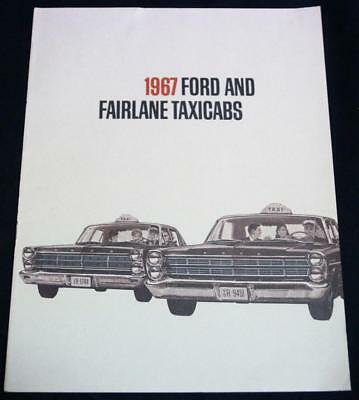 1967 Ford And Fairlane Taxi Cabs Car Advertising Sales Brochure Guide Vintage