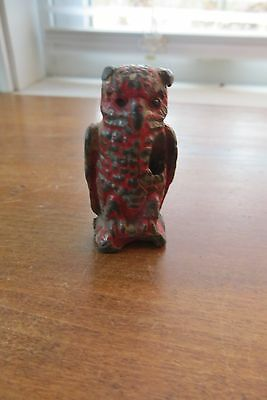 Old 1950 cast iron, lead, pencil holder, Hershey Derby, Connecticut, owl, rare