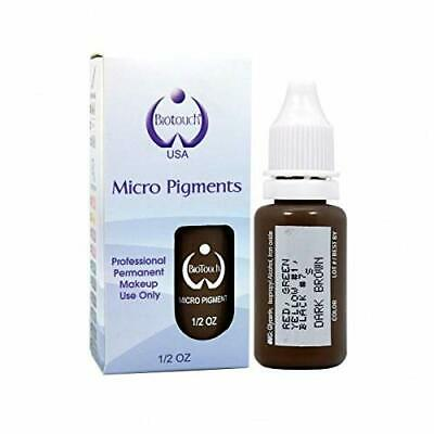 BioTouch Permanent Makeup DARK BROWN Cosmetic Tattoo Ink Micro Pigment Color .5
