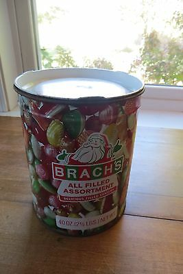 Old holiday, Christmas 40 ounce advertising tin All Filled Assortment, candy