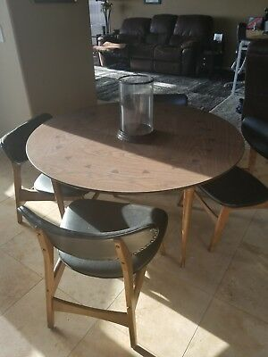Mid-century modern dining table and chairs -purchased new - 1962 Lane
