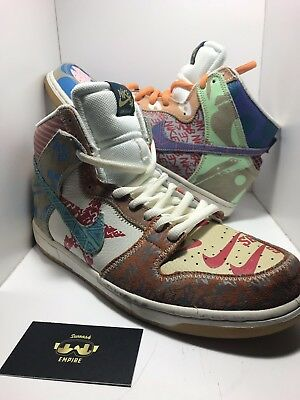 low priced 238cc 3d8d9 Nike SB Dunk High What The Thomas Campbell 918321 381 Men s Size 11