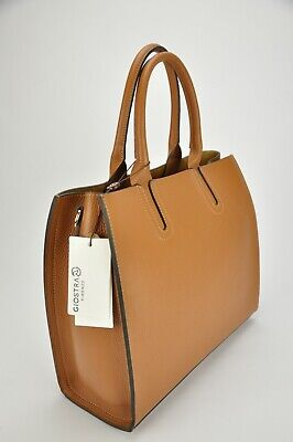 BNWT women's REAL LEATHER hobo bag MADE IN ITALY 1st choice soft brown calfskin