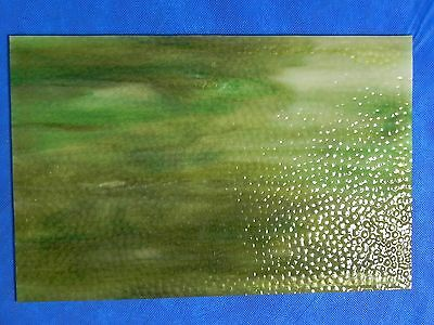 """Antique Vintage Stained Glass & Slag Window Panel Pieces 11-7/8"""" x 7-3/4"""" x 1/8"""""""