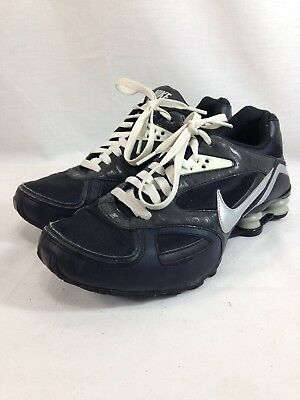 71112eaabe5f7e Nike Shox Heritage Sneakers Shoes Womens 9 Black 386358-002 Low Top Lace Up