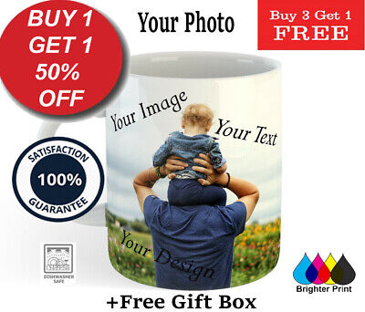 Personalised Photo Mug Custom Tea Coffee Cup Gift Your Picture Image Logo Design