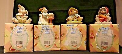 4 New Ensco Blushing Bunnies Figurine Collectibles