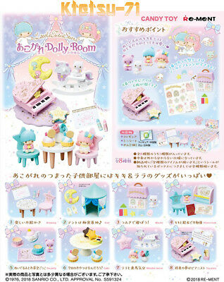 Re-ment SANRIO Little Twin Stars Dolly Room Miniature Figure Full set 8 packs