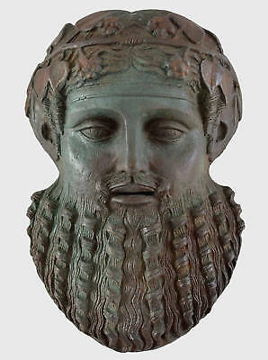 Dionysos Small Mask with bronze color effect-Dionysus God of wine ritual madness