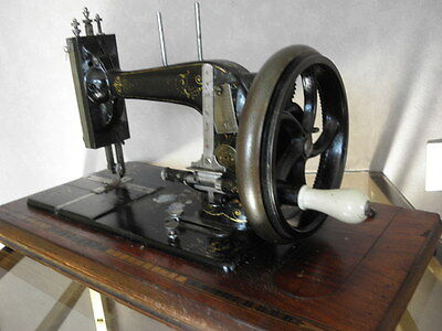 ANTIQUE SEWING MACHINE Winselmann old Hand Crank TOOLS vintage century iron