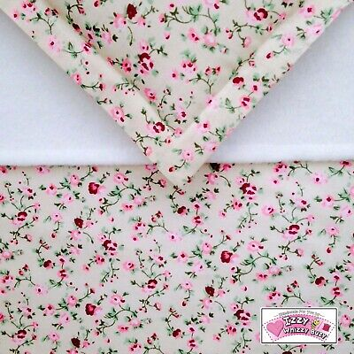 Dolls Pram Blanket & Pillow Cot Bedding Set Pretty Pink Vintage Floral Annabell