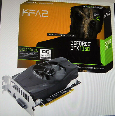 KFA2 GeForce® GTX 1050 OC 2GB GDDR5 PCI-E3.0 (NVIDIA Grafikkarte) ANSCHAUEN