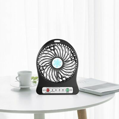 Portable Mini LED Fan Air Cooler Battery Operated USB Charging LED Light Fan BG