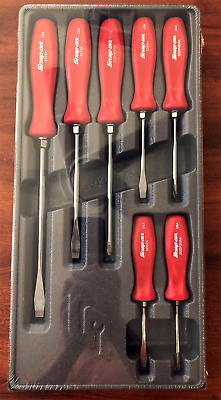 Snap-On SDDX70AR 7 pc. Combination Screwdriver Set Red