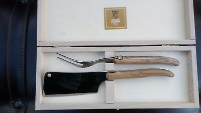 2Pc Laguiole Cheese Serving Set By Claude Dozorme {The Wolf}