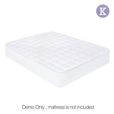 Giselle Bedding Fully Fitted Cotton Cover Quilted Bed Mattress Protector KING