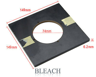 Vintage Lens Board for 5x4 Monorail Camera with large 74mm Aperture.