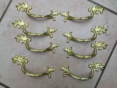 Set of 8 Antique Style French Brass Handles