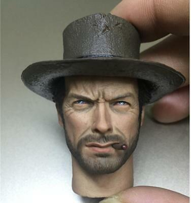 "Custom made 1/6 Scale Head Sculpt Clint Eastwood The Good For 12"" Body"
