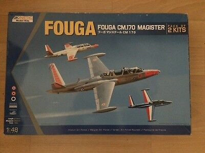 Kinetic 1/48 Fouga CM.170 Magister (2 Bausätze)
