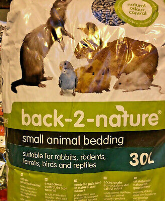 Back - 2 - Nature Small Animal Bedding and Litter Paper Pellets 10L -  20L - 30L