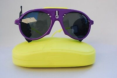 1eae7ccd751160 Rare Vintage Carrera 5436 Sunglasses Purple  Yellow Aviator With Box 90s