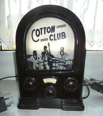 Tischleuchte in Form von Radio The Cotton Club Keramik 23 cm hoch schwarz Design