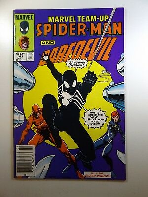 Marvel Team-Up #141 Early Black Suit!! Co-Starring Daredevil! Fine- Condition!!