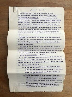 Rare 1925 Larkin Aircraft Supply Co (Lasco) Aviation Mail Services Contract P86