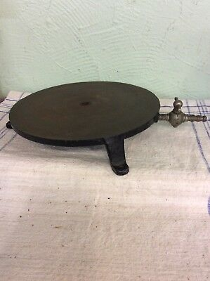 Old Science Lab Round Steel Base With Gas Connector