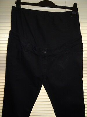 Next Black MATERNITY Skinny Jeans *Size 12L* Excellent Condition *OVER BUMP*
