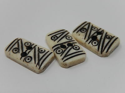 Three domino buttons, old ethnic button