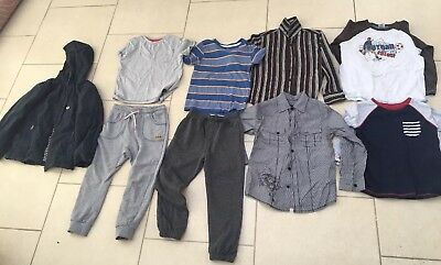 Bundle Boys Clothes Age 6-7 Years Winter Coat Next Debenhams M&Co Shirts Winter