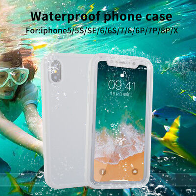 360° TPU Full Protective Cover Waterproof Phone Case For iPhone XR XS Max 8 Plus
