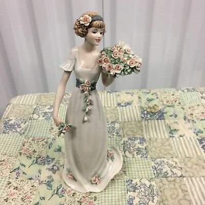 "Giuseppe Armani Figurine ""SCENT OF SPRING"" #1724L *Excellent Store Display* (B)"
