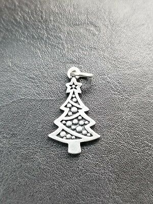 James Avery Sterling Silver CHRISTMAS TREE Charm / Pendant- Retired