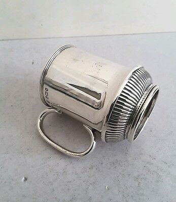 Good Victorian Ant. Solid Silver Christening Mug/ Cup.    Ht.8Cms.   Sheff.1891.