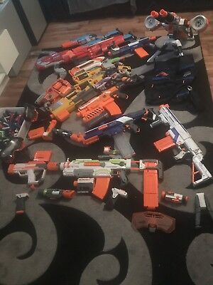 Huge NERF GUN Bundle Job Lot Inc Rhino Fire 19 Guns Bullets And Accessories