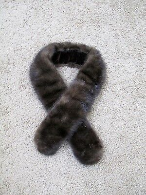 Mink Fur Stole Collar Clips on Vintage Ellison