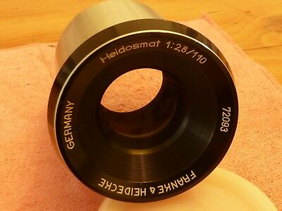 Rollei Heidosmat Projector Lens. 2.8/110. For Rollei P11 & 66. Made in Germany.